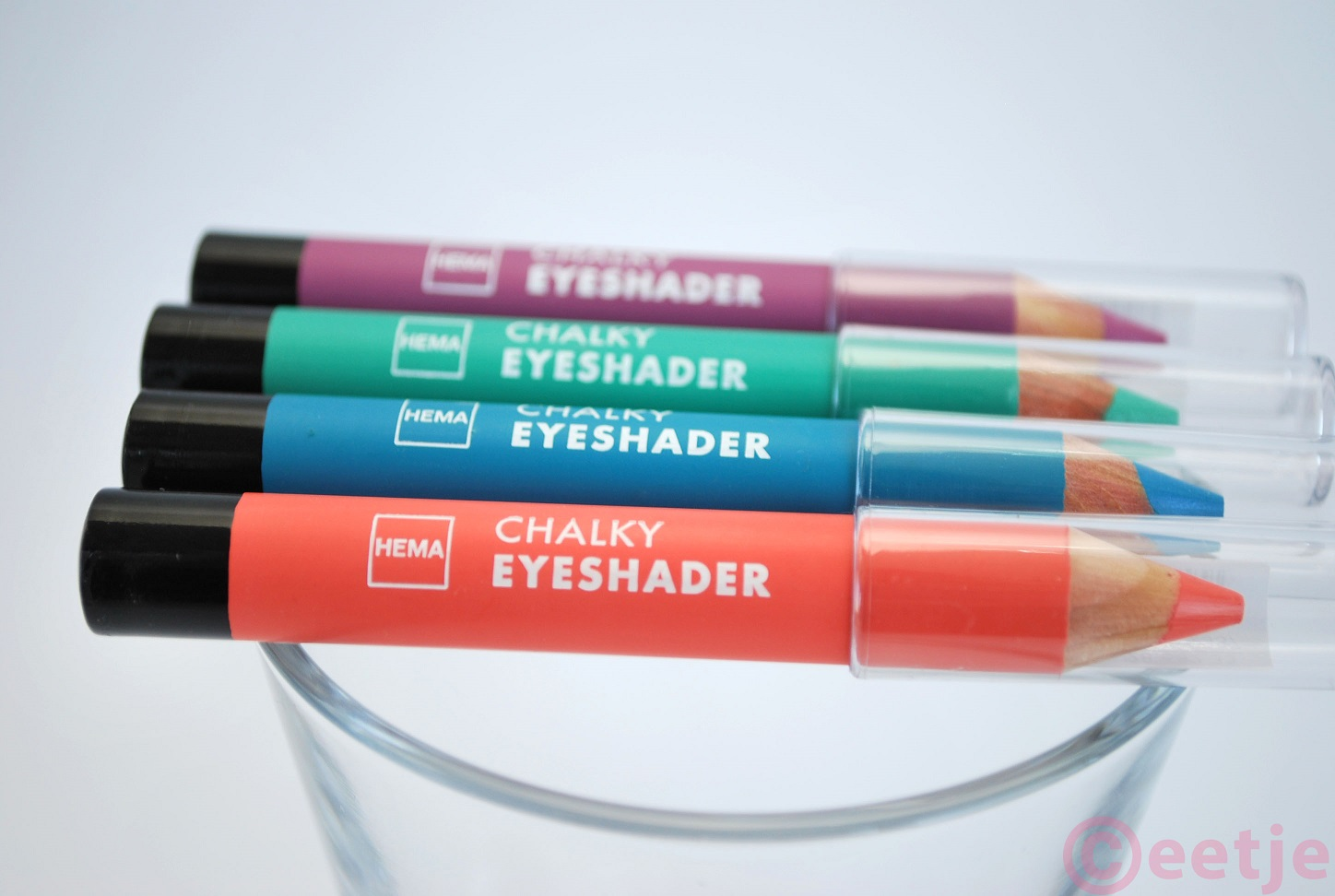 Review swatch chalky eyeshader hema mint groen