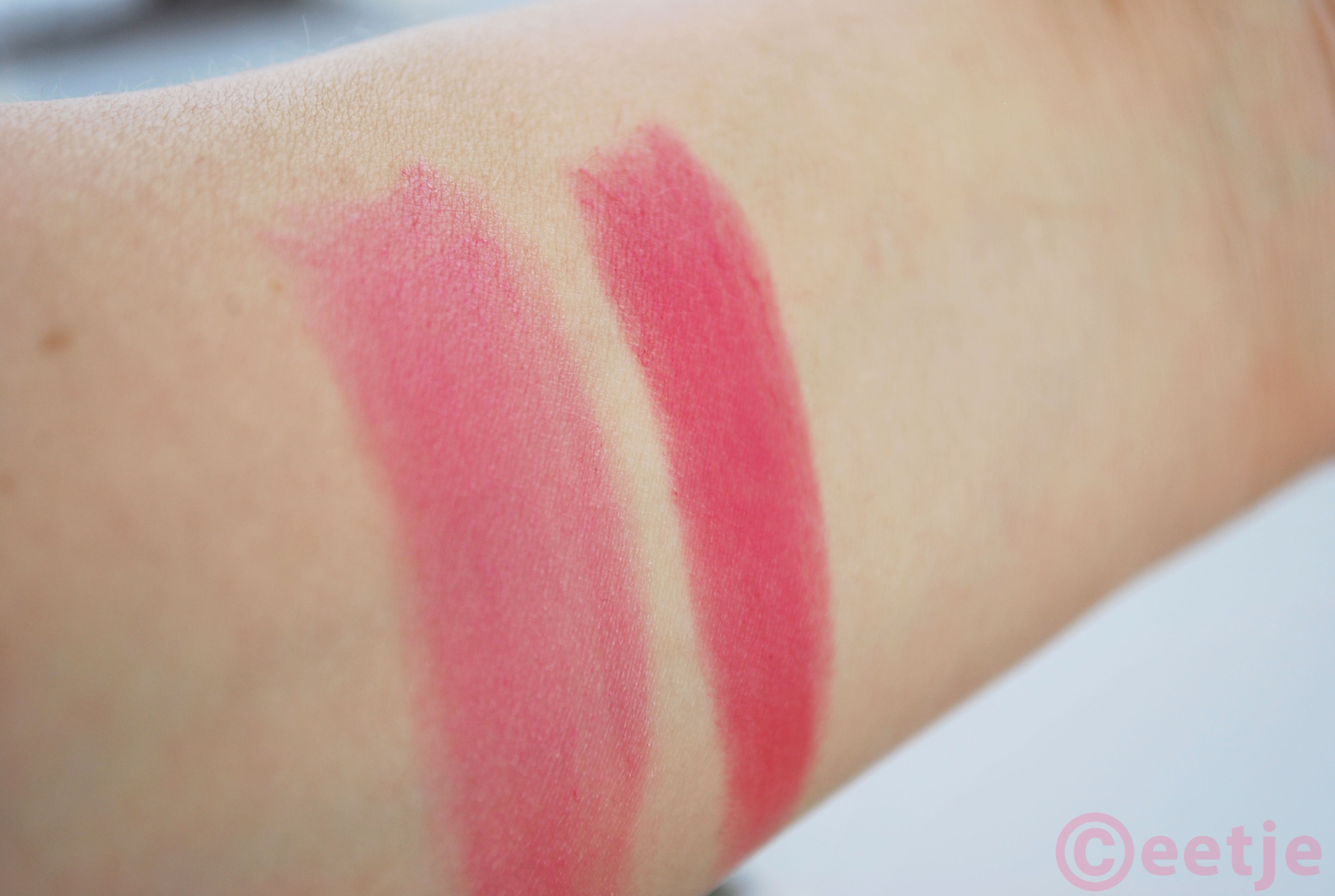 Swatches matte Fogan lipstick 08 13