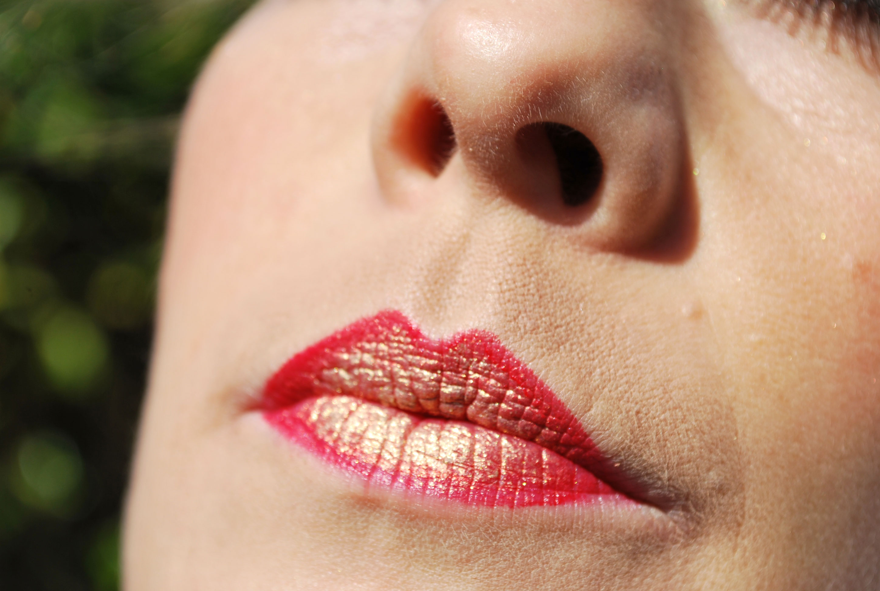 sunkissed red gold lips rood gouden lippen
