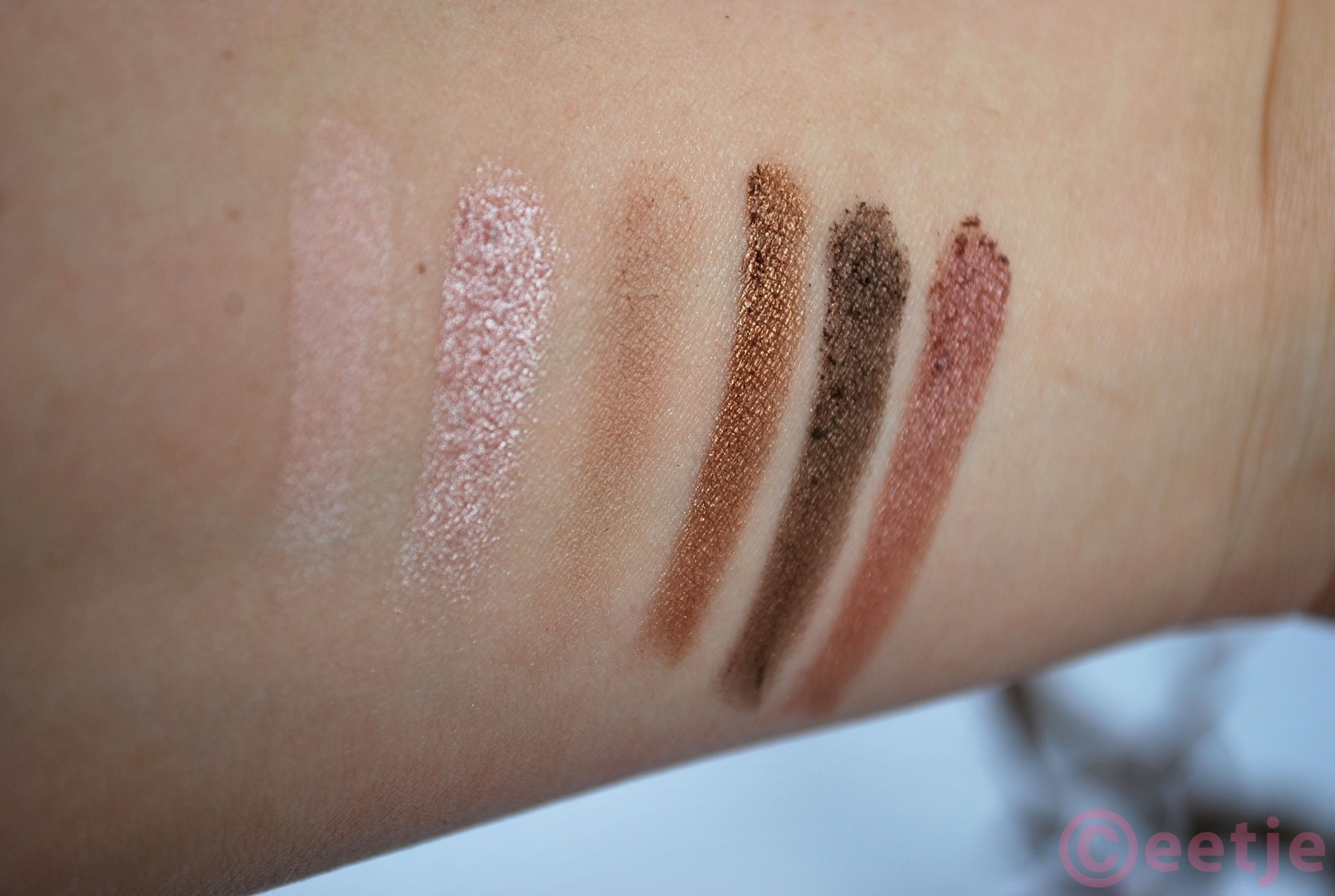 swatches mua undressed eyeshadow palette