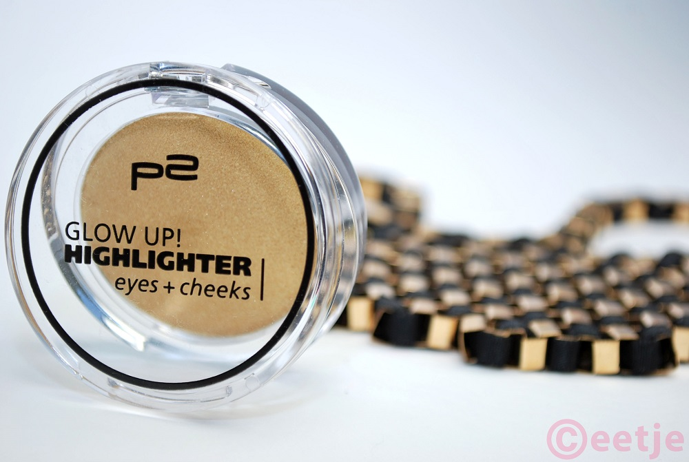 P2 highlighter review glow up swatces gold