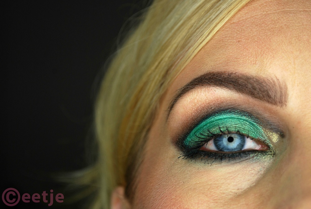 groene smokey eyes green mint