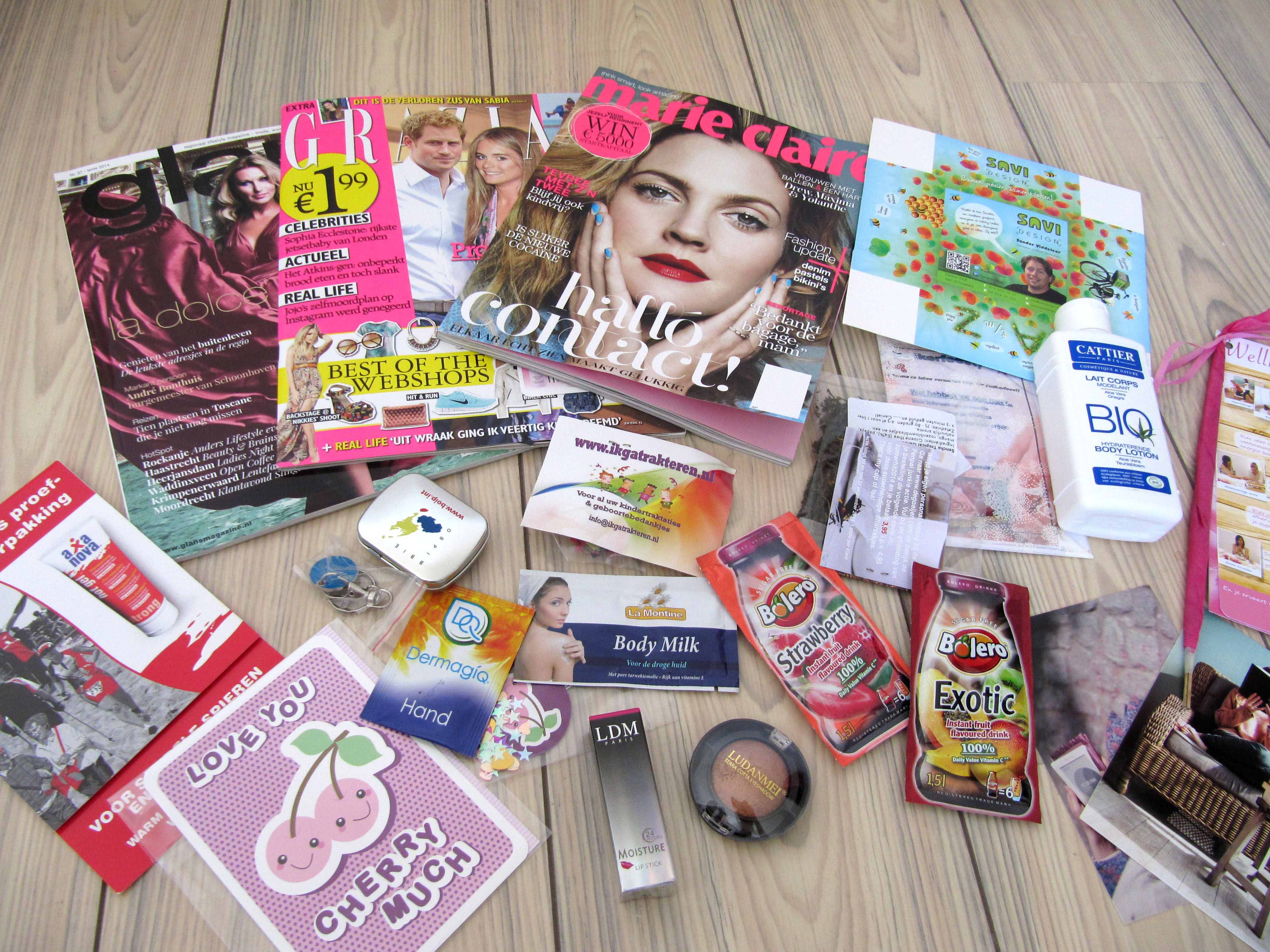 goodiebag penpal junkie ladies day a pink day to remember