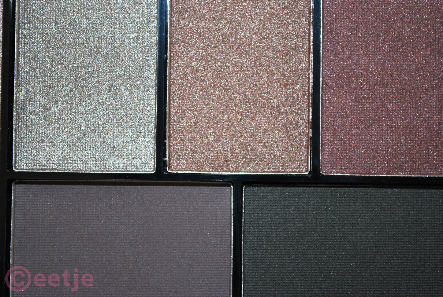 Review colors MUA Luxe eyeshdaow palette pretty edgy spikes