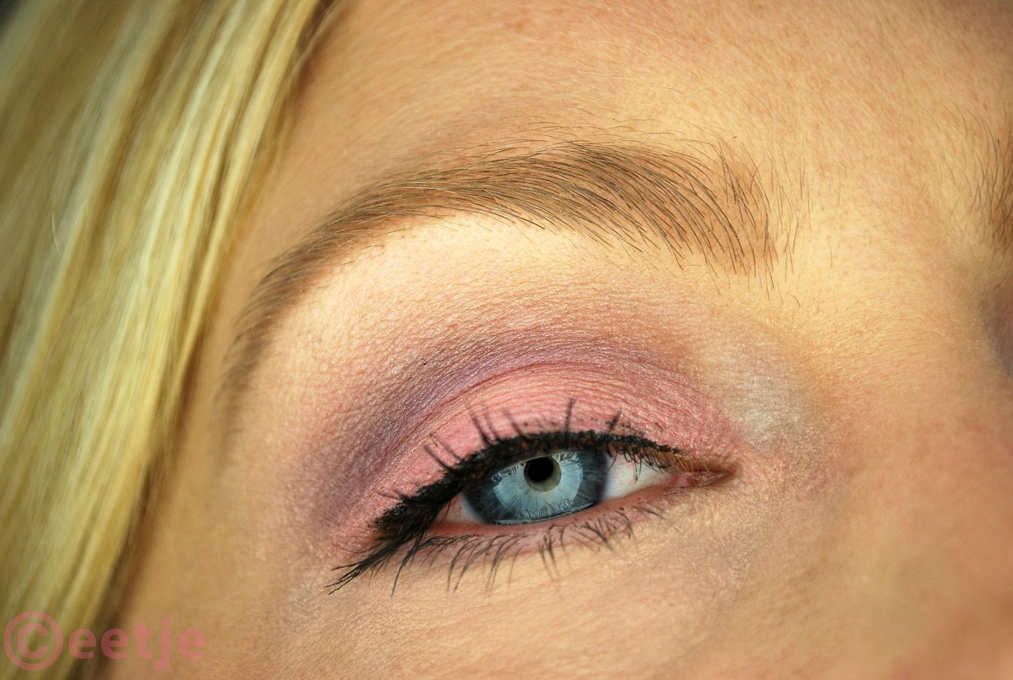 roze paarse ooglook 88 palette look with purple and pink eyes