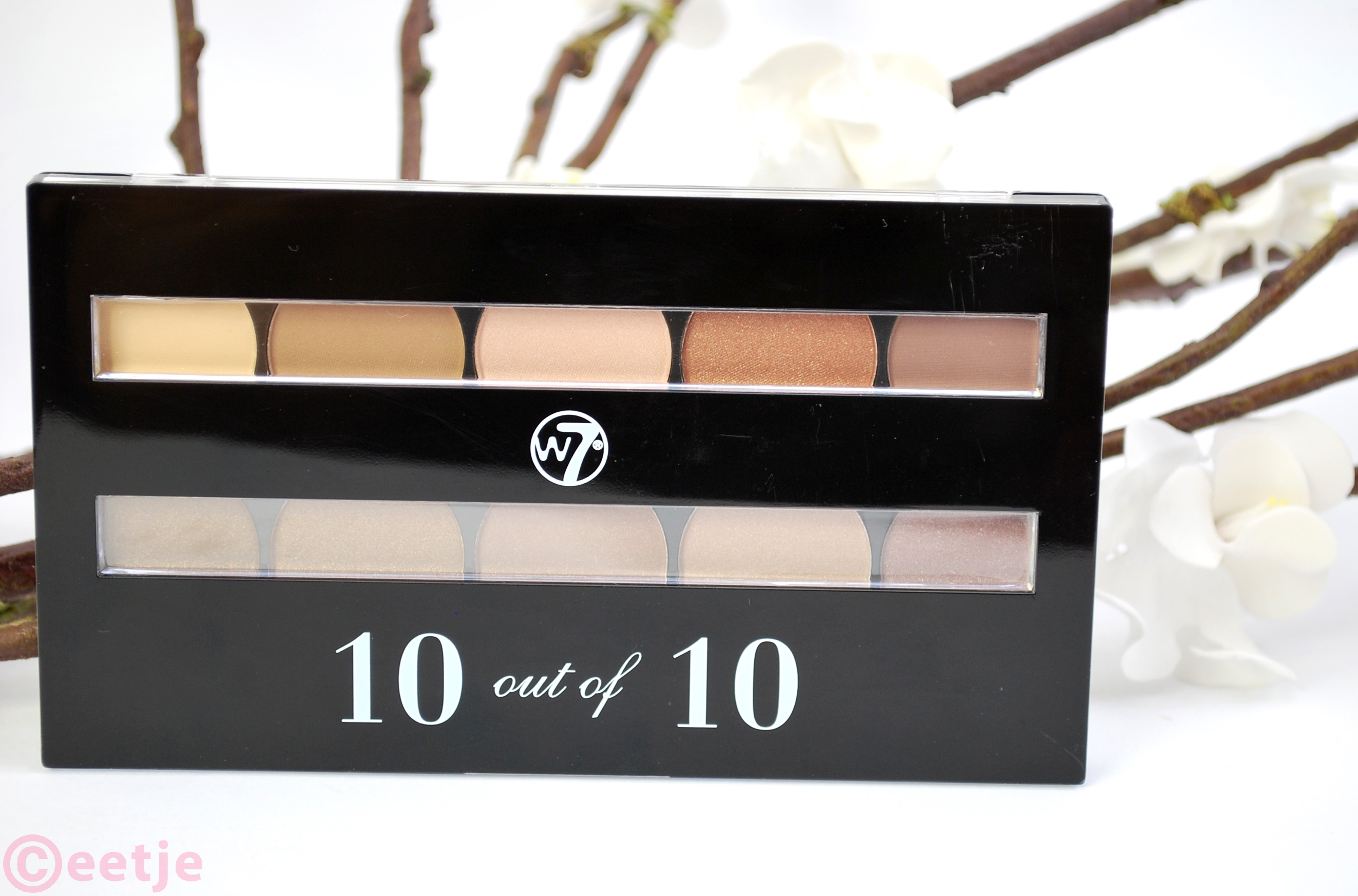 review W7 10 out of 10 eyeshadow palette