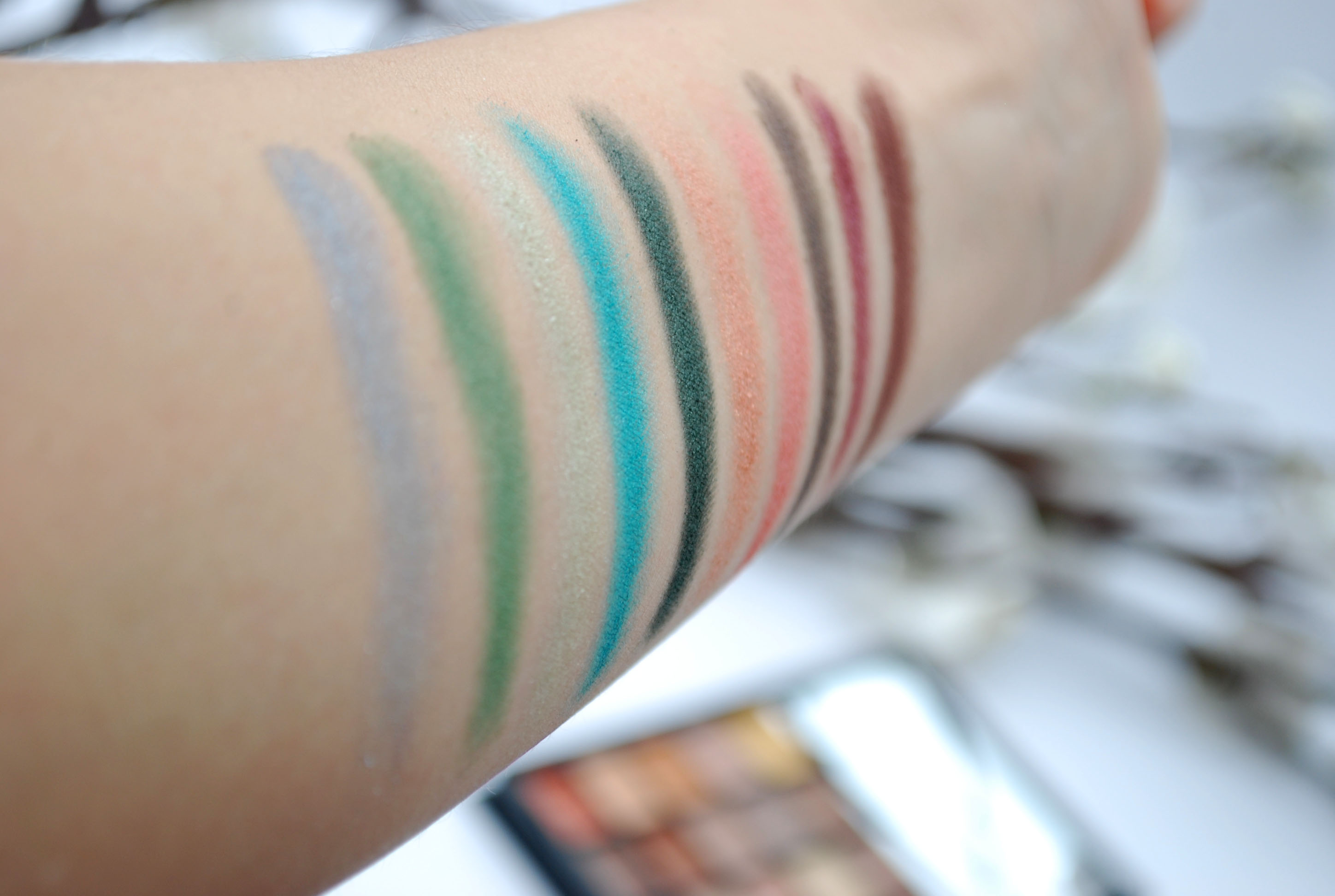 swatches review elf eyeshadow beauty book palette warm