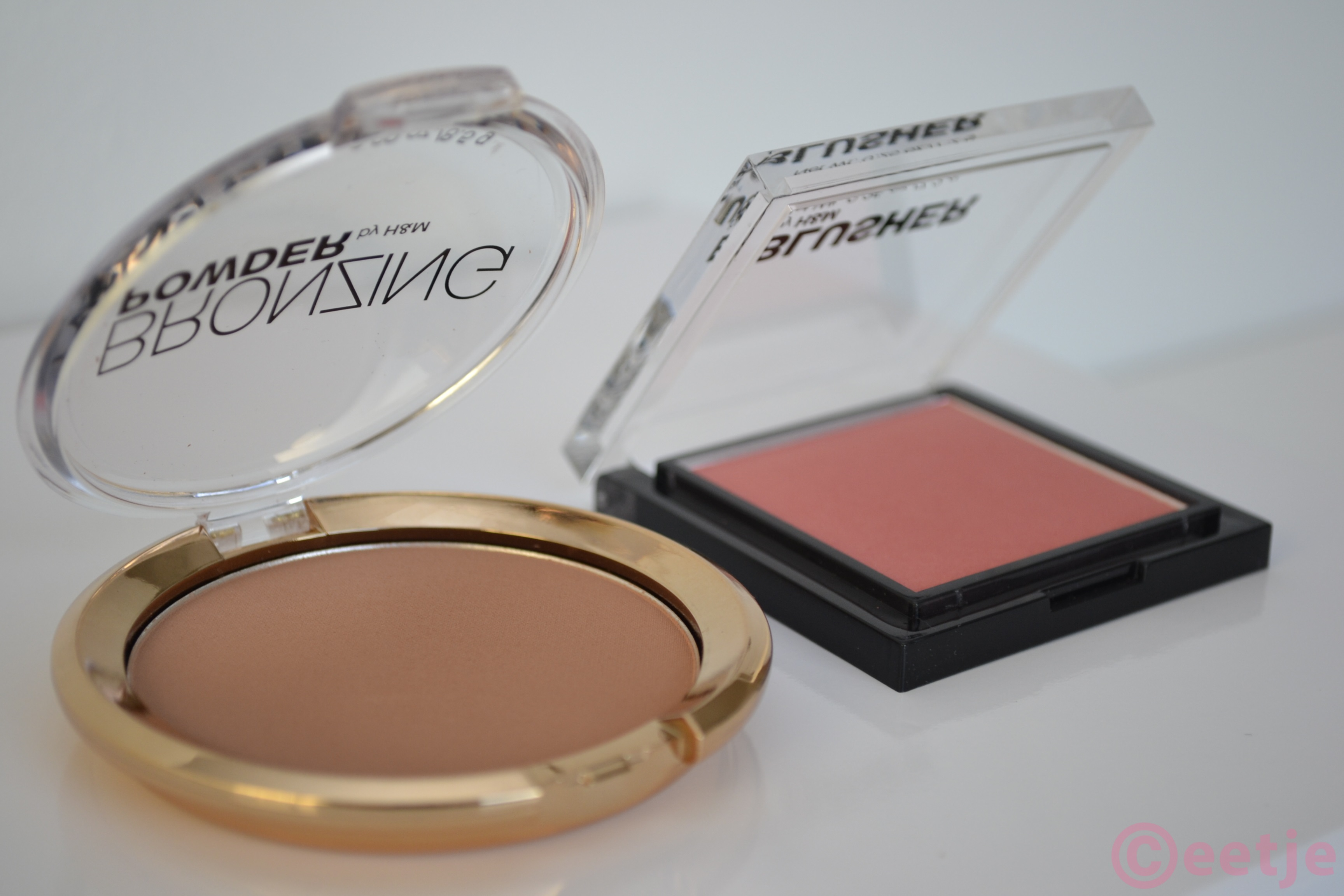 H&M bronzing powder en Blusher