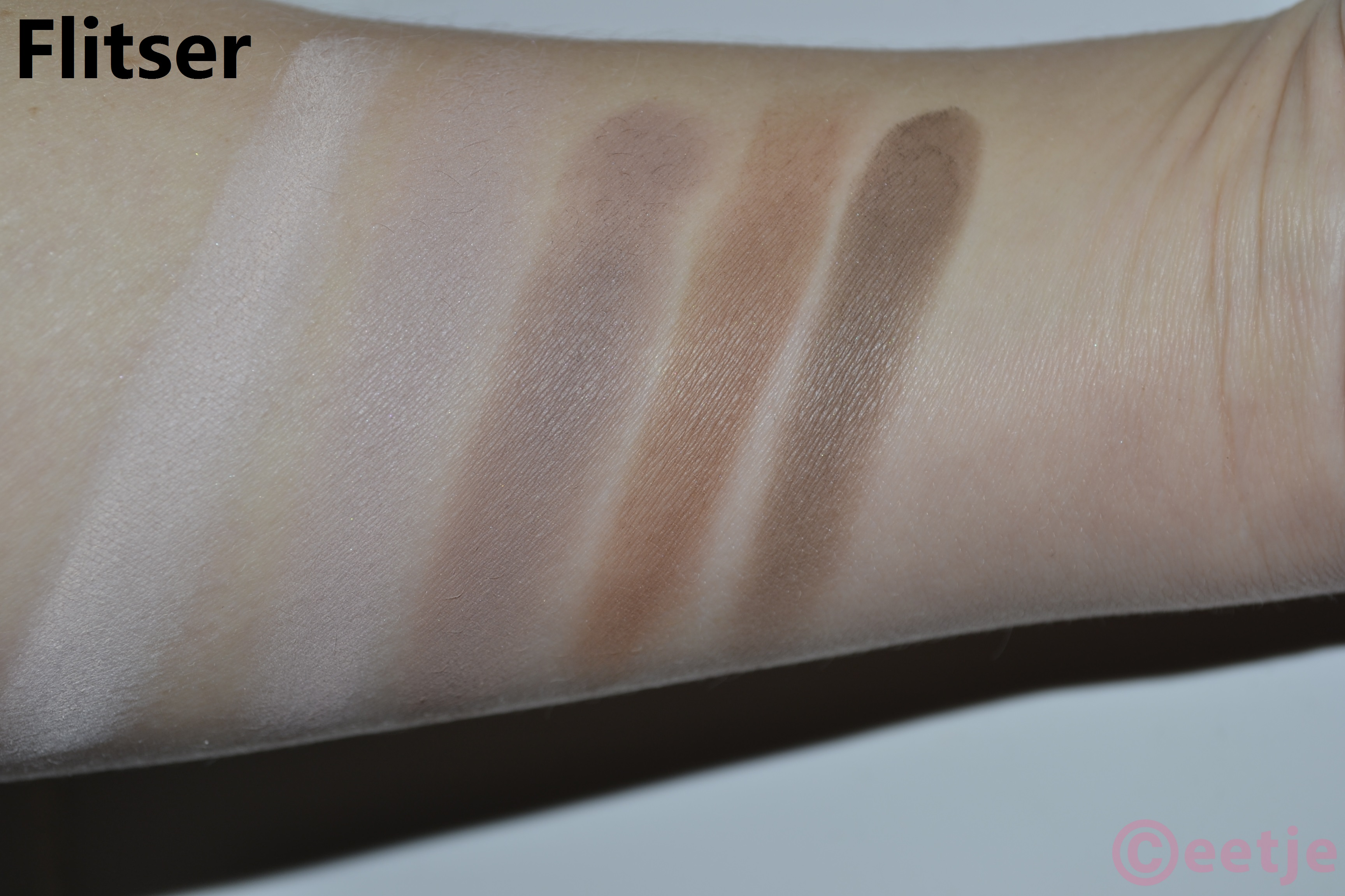 Swatch Flormar oogschaduw palette 07 eyeshadow flash flits