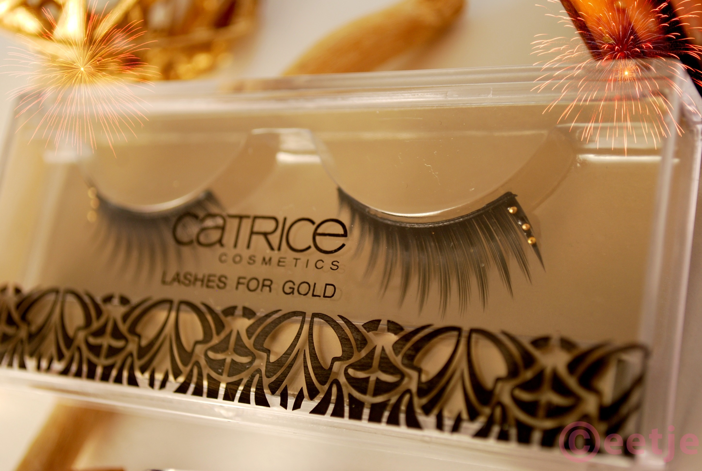 Catrice lashes for gold party look