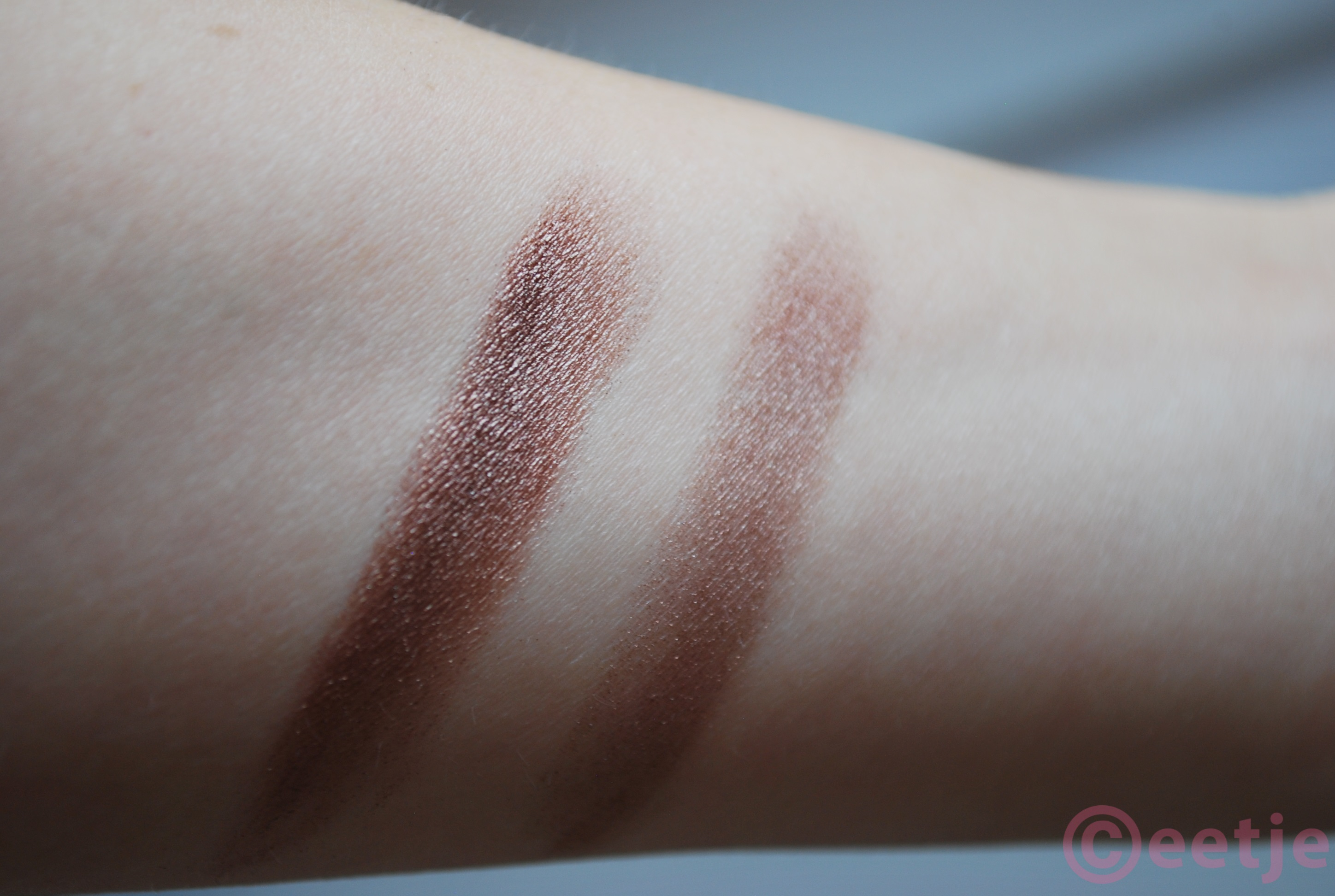 swatch elf baked eyeshadow bark