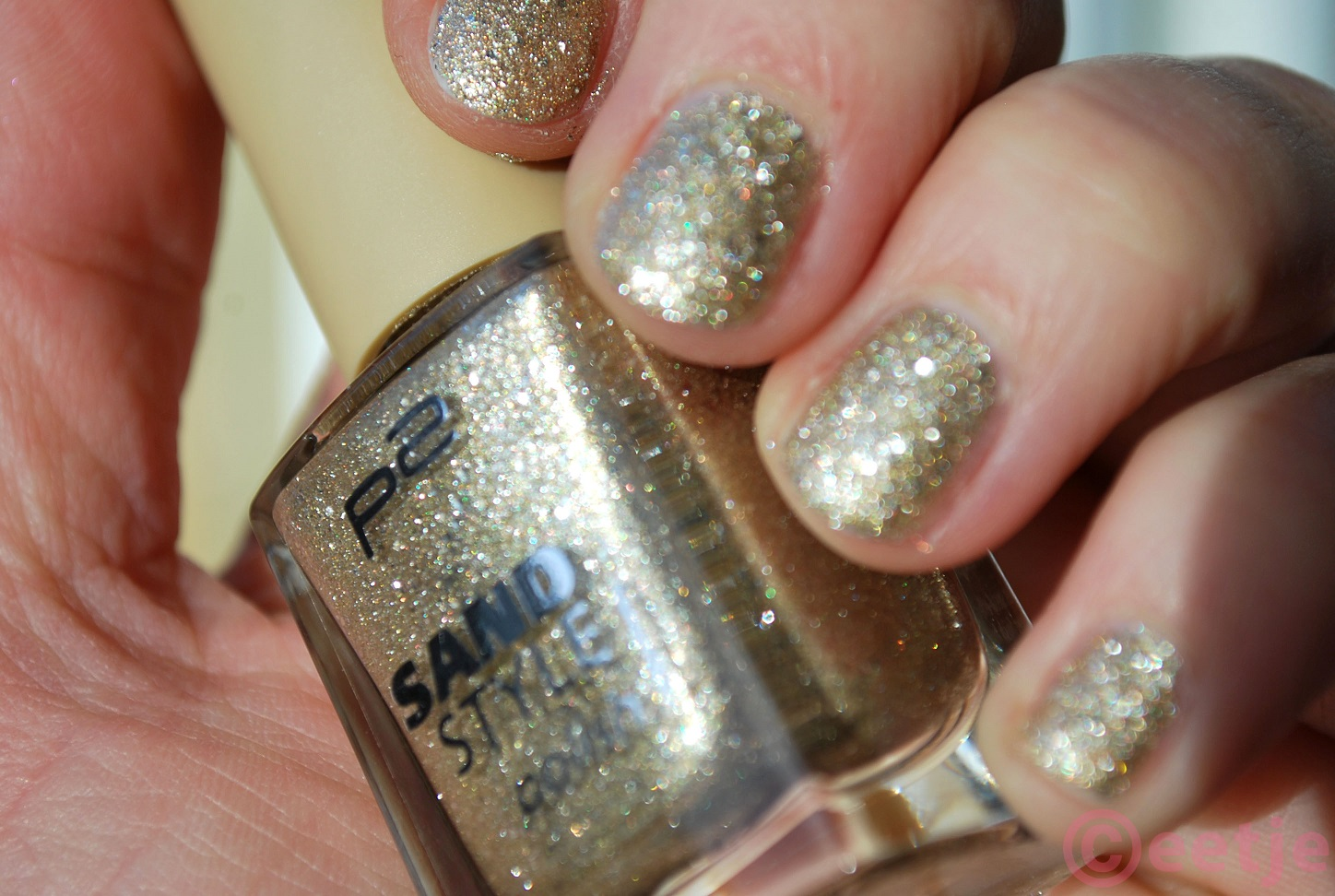 P2 sand style nagellak nagellack 100 precious swatch review