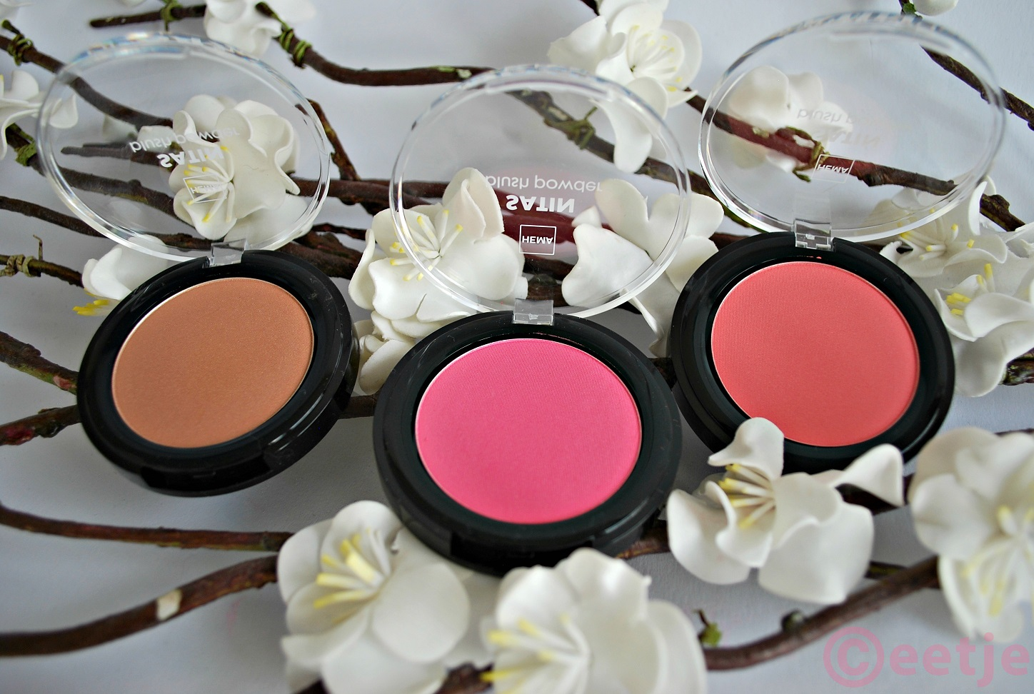 review en swatches nieuwe Hema blush satin matte