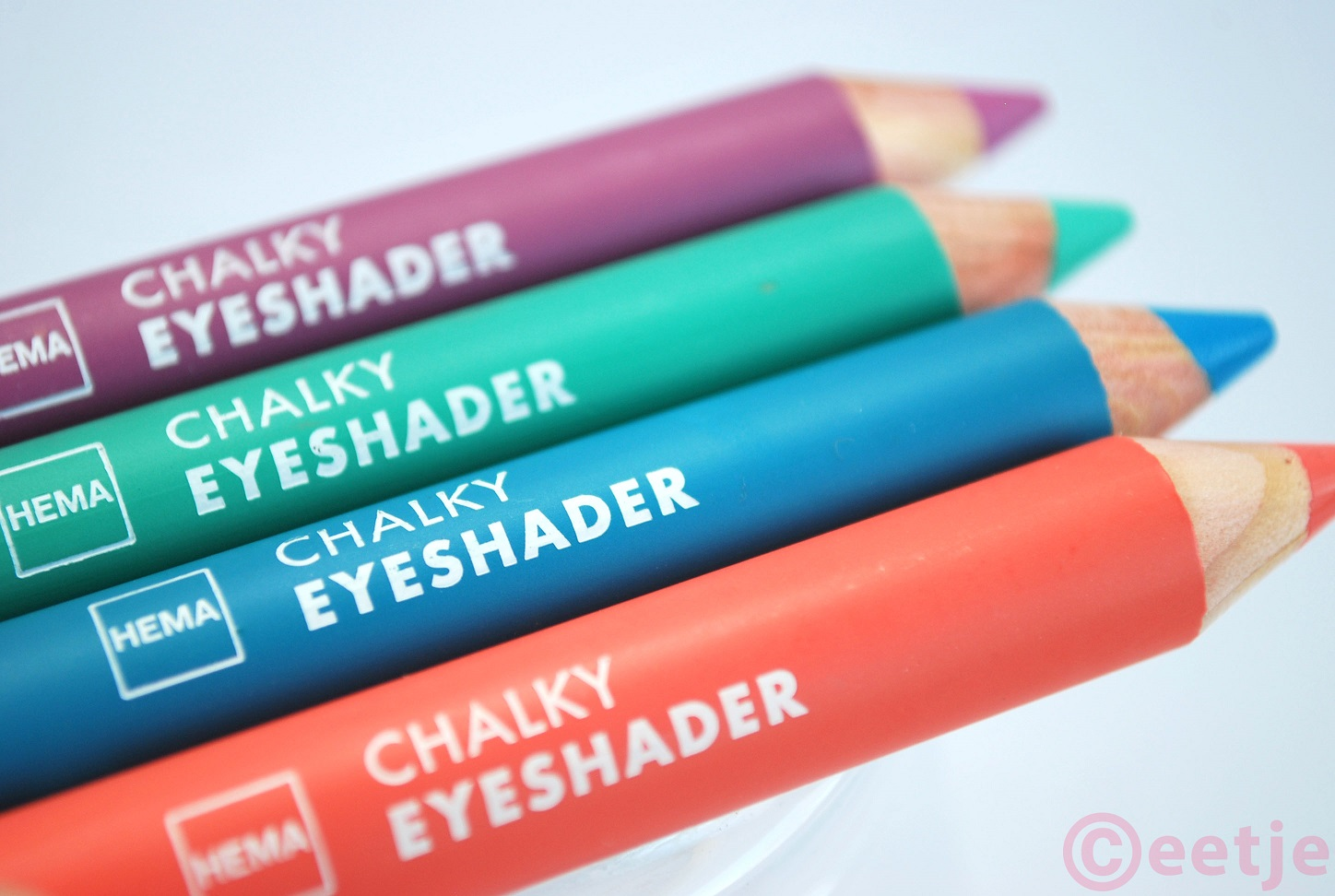 Chalky eye shader hema paars oranje mintgroen review