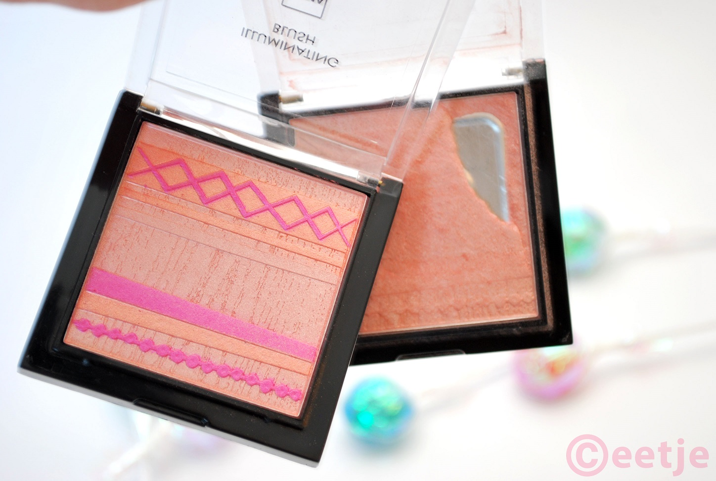 Hema illuminating blush review look swatch