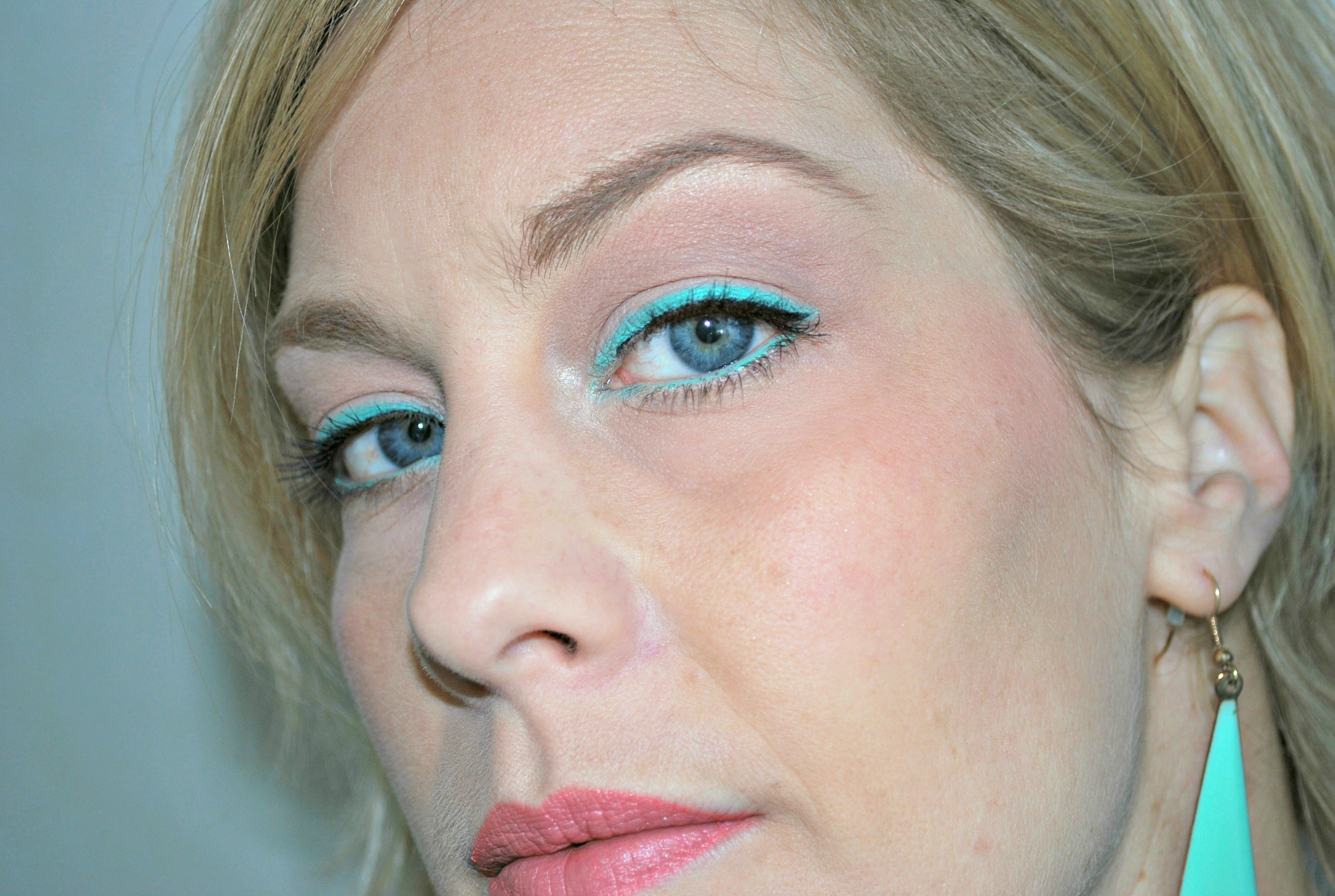 hema eyeshader mint groen look swatch