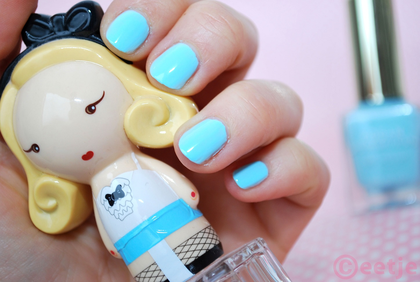 Fogan cosmetics nailpolish 10 baby blue review