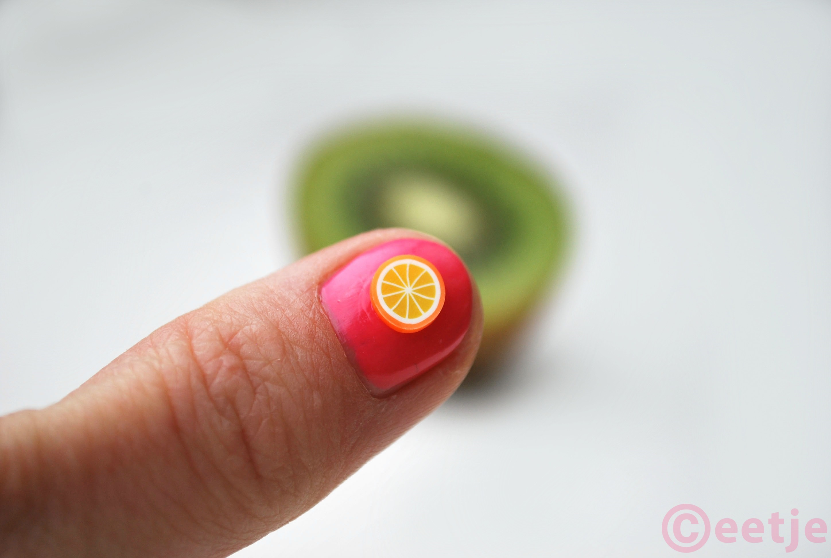 Sinaasappel nail art orange wheel
