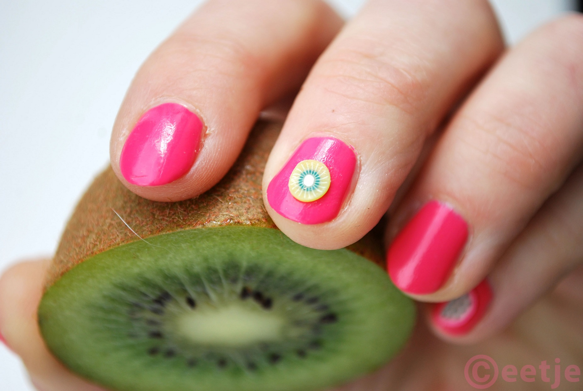 Tropical fruit nail art