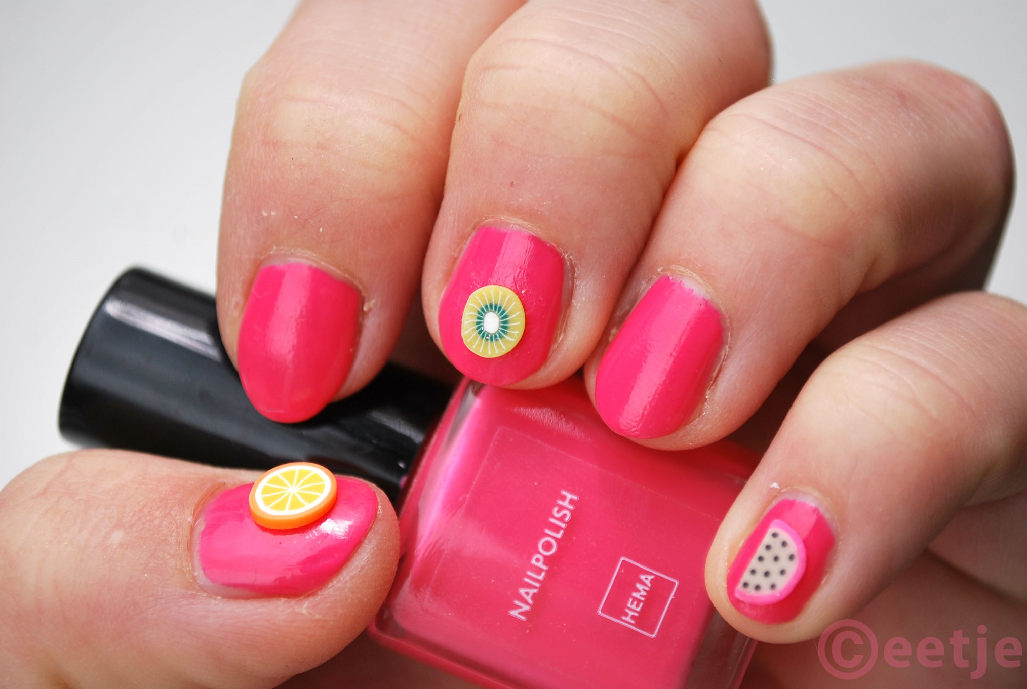 Tropical fruit nail art hema 06  nagellak