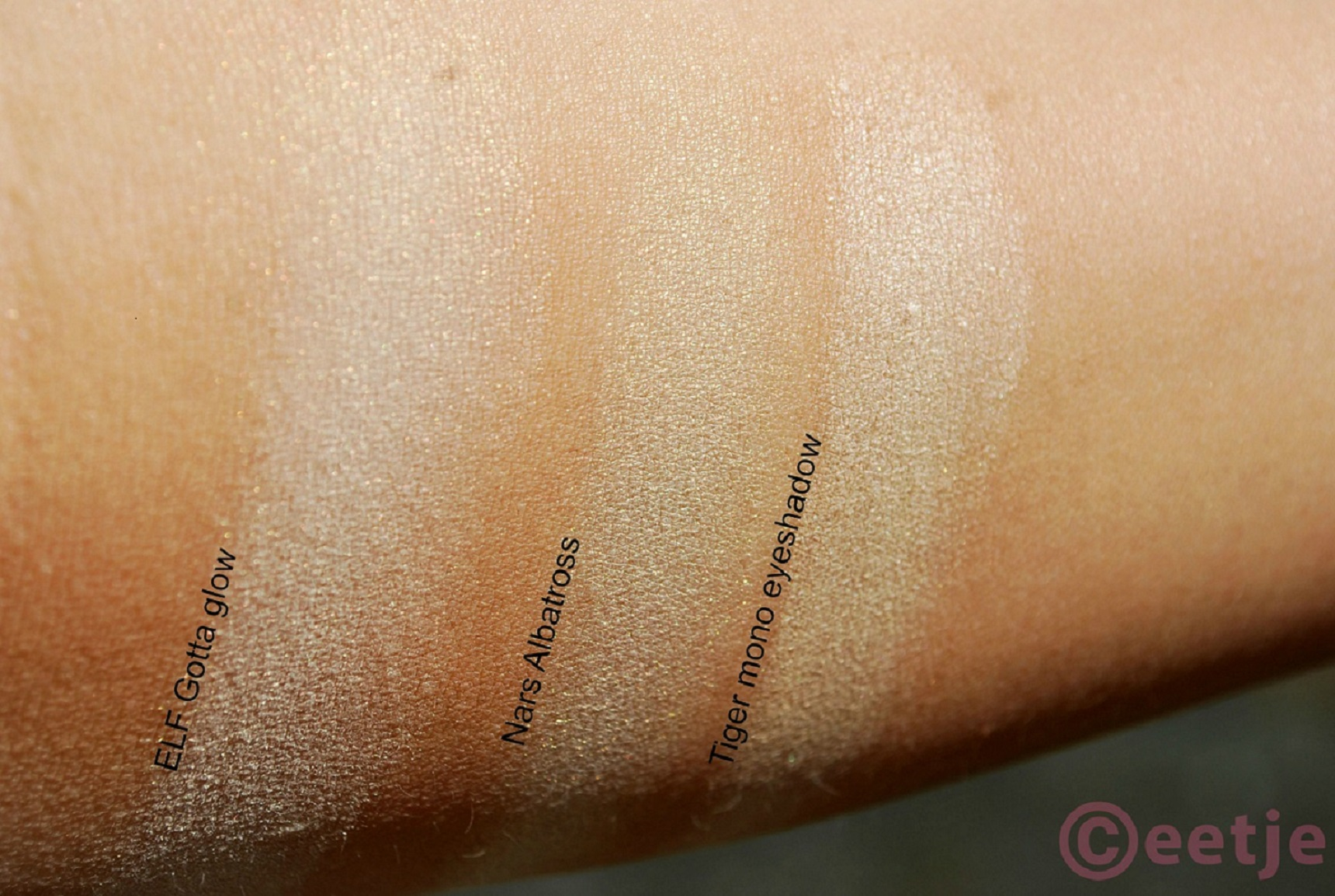 Swatch Nars Albatross vs ELF gotta glow