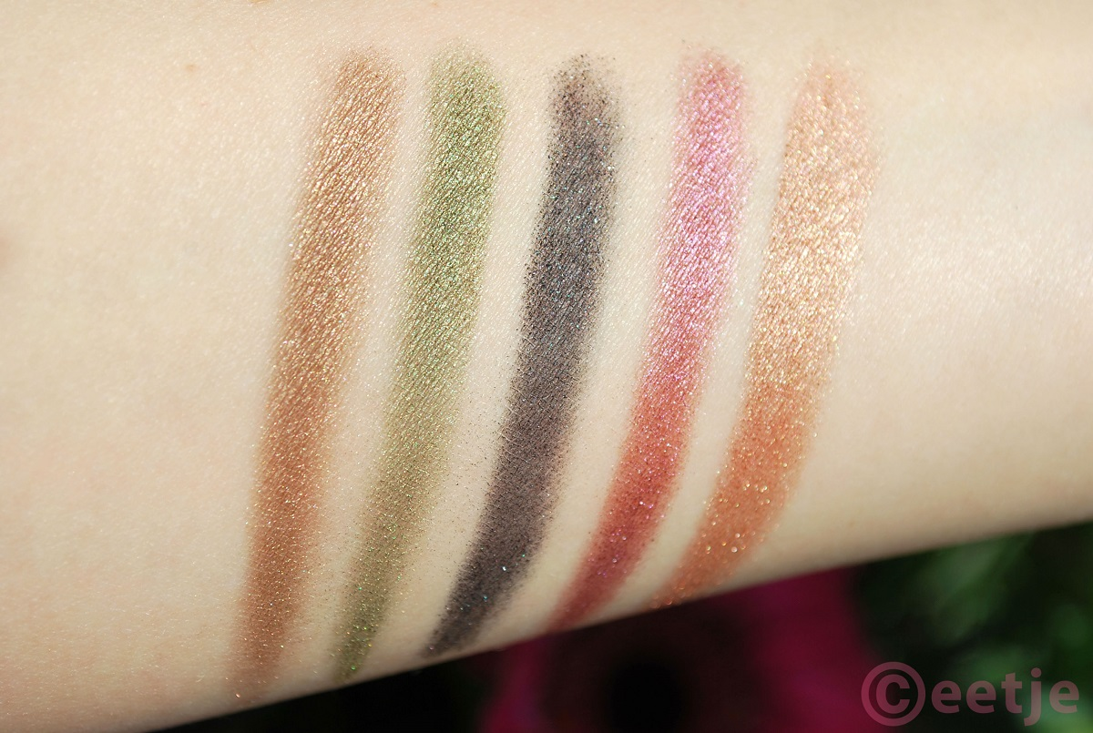 Swatches Urban Decay Ammo palette fall ot colors best
