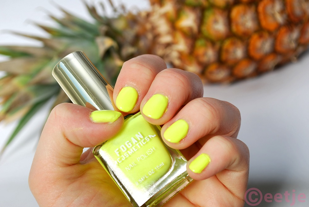 swatch review Fogan nagellak 25 neon geel