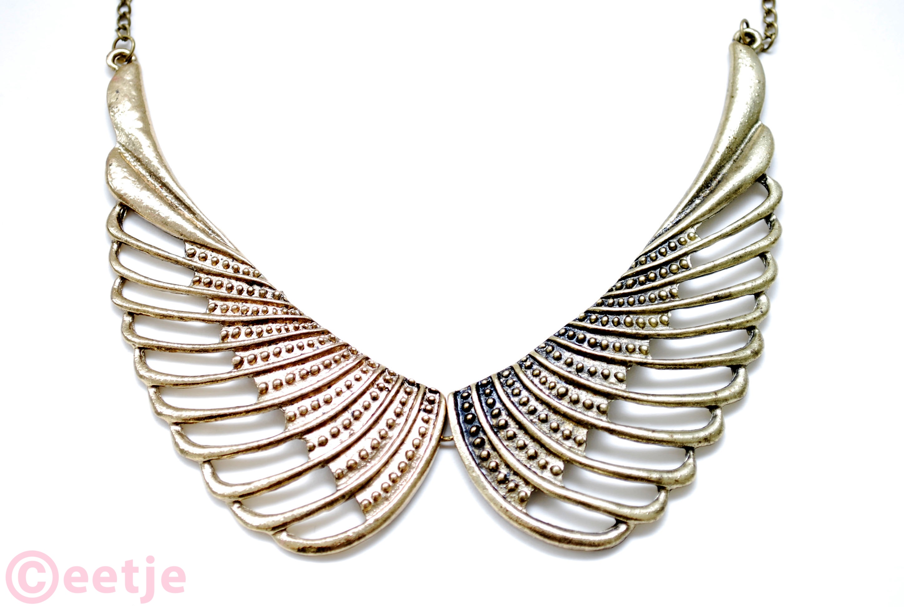 Kraag wing collar necklace ketting