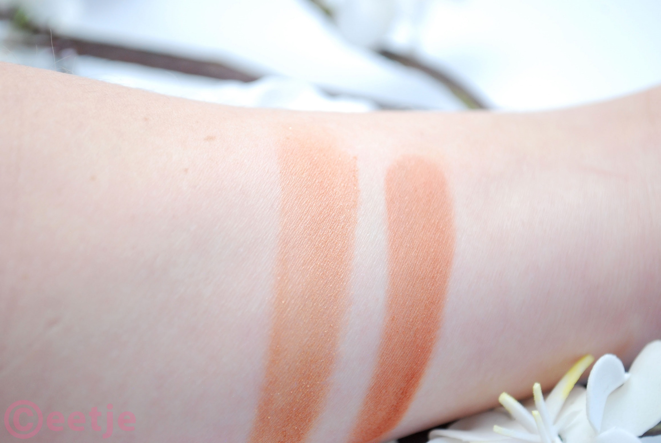 Shimmering Bronzing powder Hema swatches