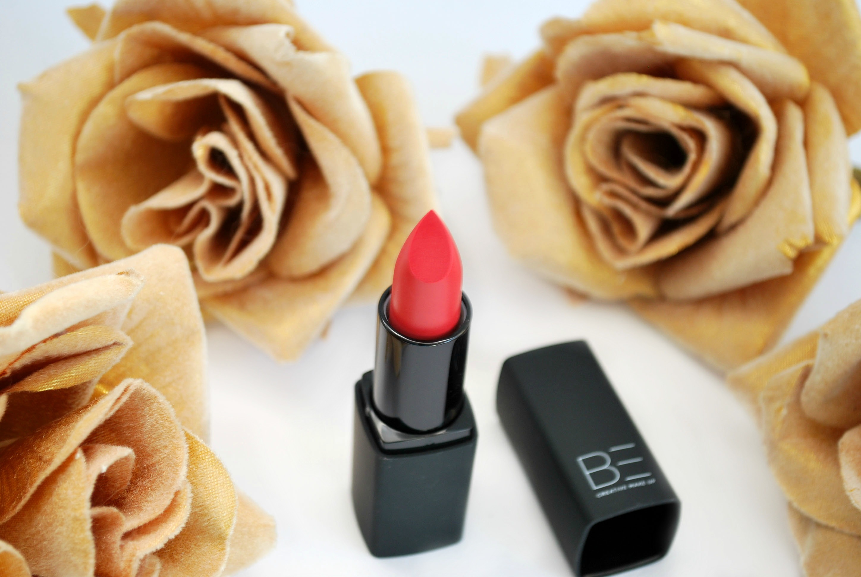 review be creative lipstick poppy brilliant shine