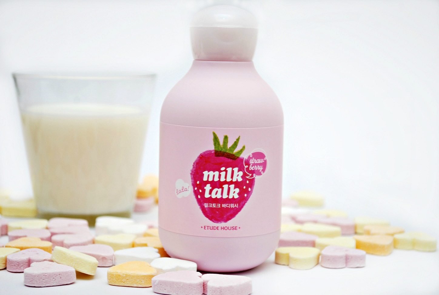 Review Milk Talk Body Wash Strawberry Milk etude house
