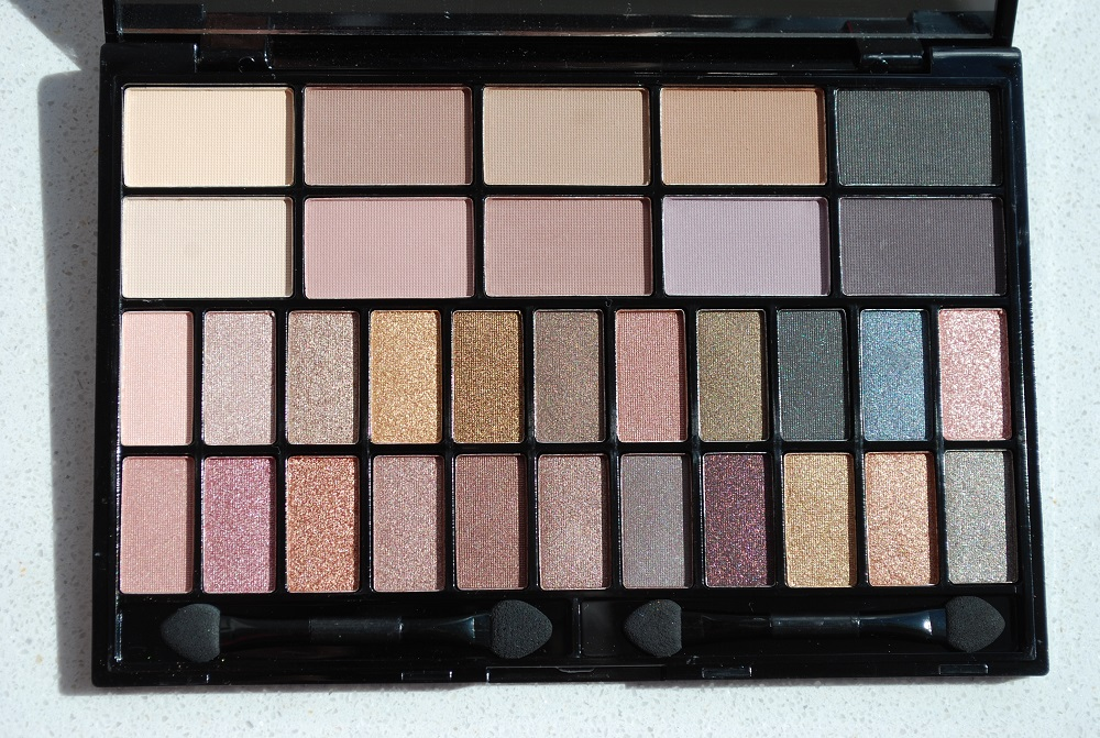 review swatches eyeshadow palette I heart make up